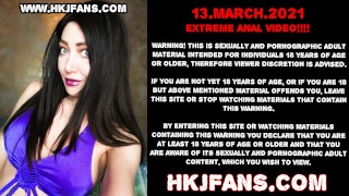 Hotkinkyjo anal balls insertions with fisting & stuck ball prolapse HKJFANS