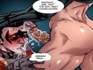 Superheros batman robin nightwing gay film cartoon...
