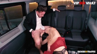 FuckedInTraffic - Tina Kay Big Tits British Babe Gets Dicked Down In The Car Backseat - VIPSEXVAULT