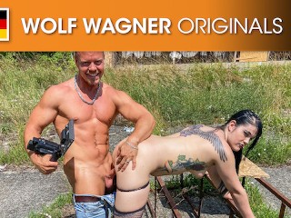Punk girl Doreen swallowed and pounded a big dick in Public! Wolf Wagner Originals