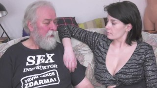 Sex instructor Pavel Faun give lesson to czech busty pornstar Anabell