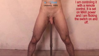 Remote Control Prostate Vibrator - Restrained and Impaled --OF @tommy_1995
