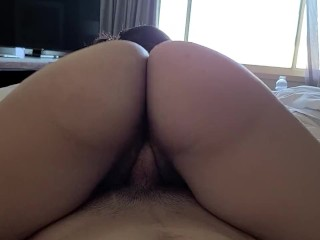 My Wet Pussy Slips Off Papi's Hard Cock – Hotel Sex