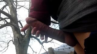 MASTURBATING A STRANGER'S COCK IN THE MOUNTAIN