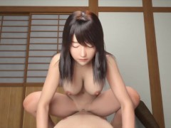 Horny milf seduced a guy in public and invited him home [NEET, angel and naughty] / 3D Hentai game
