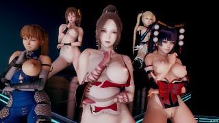 MMD PSY - GENTLEMAN Naked Dance DOA Marie Rose Mai Shiranui Nyotengu Kasumi Honoka Misaki