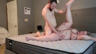 Curvy wife wants to break in new mattress properly