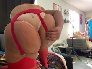 Nixlynka Putting on Stockings
