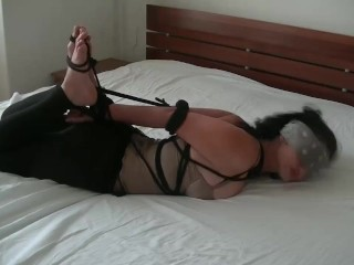 Bdsm safe and voluntary hogtied clare...