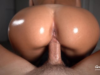 Real Cheating Babe with Big Ass gets Creampie after Oil Massage / Unexpected Sex Amateur couple
