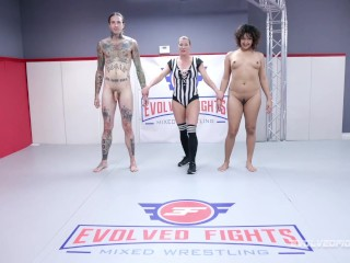 Nude Mixed Wrestling Fight With Daisy Ducati Vs Ruckus With Face Sitting Pussy And Ass Eating
