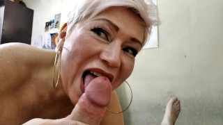 Lovely mature cocksucker! The best whores are our wives, you just have to have an approach to them))