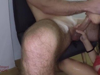 Close up/POV Blowjob - PERFECT ASS TINDER DATE knows how to work my cock and get what she wants!