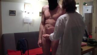 dirty lady interrogates a submissive man - femdom sex