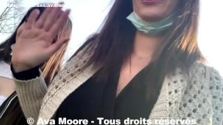 Ava Moore - On suce un étudiant dans les toilettes d'un parc à Lyon avec Luna Rival - PORNO REALITE