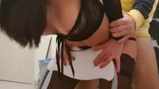 Estreme anal sex stucked girl friend