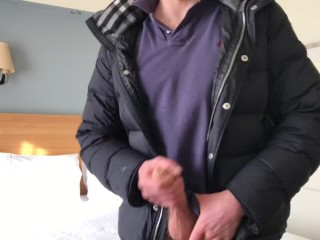 Wanking in work clothes alpha male xxl...