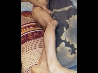 Guy having extreme and sexy cuddling roommate humping...