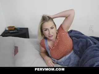 Busty Stepmom Quinn Waters Is On Her Knees Giving Stepson A Big Reward