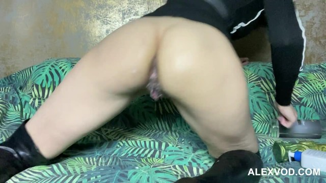 Hotkinkyjo Huge violet dildo, fisting, gape & Anal prolapse 8