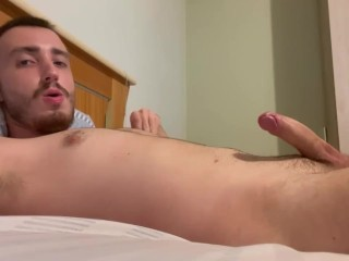 Naughty boy jerks off moaning loud and ends...