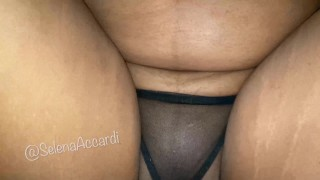 Big Titties - Girl Showing Boobs And Getting Fucked In Black Lingerie - Interracial Sex