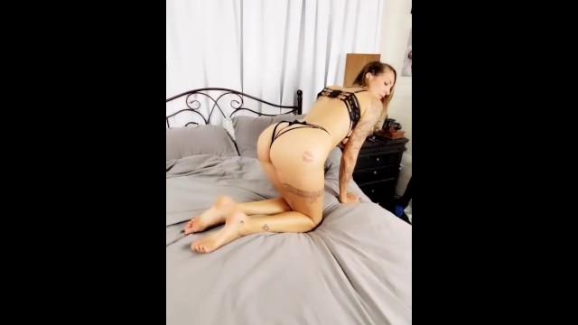Milf Lydia Luxy Sexy Lingerie Tease and POV BJ HANDJOB 7