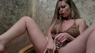 Xenia Dream Puts Real Pearls Inside Her Tight Pussy