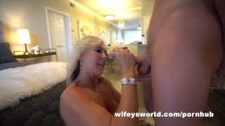 Wifey Auditions New Stunt Cock And Swallows Cum