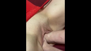 Double fisting my girlfriend's gaping pussy