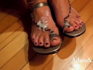 Milf cumshot shoes shoesjob...