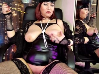 Mature lustful russian whore recites classic poems with...