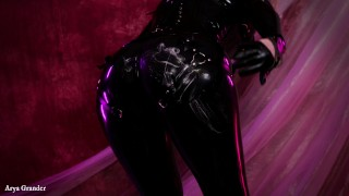 Latex rubber fetish with food fetisch and dirty talk cuckold dreams full video 4k