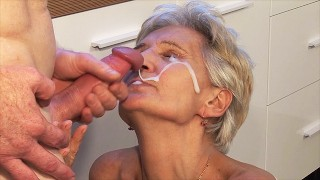 big cum load shot in stepgrandmas eye
