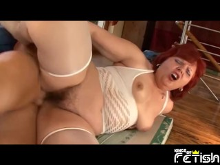 Redhead pussy screwed by guy with...