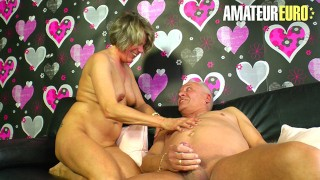 XXXOmas - Kinky German Granny Intense Pussy Fuck With Her Horny Husband - AMATEUREURO