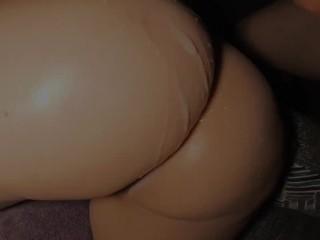 Step-Sister gets Cum Load on Big Latina Ass