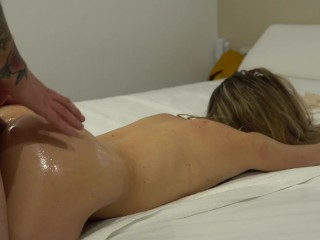 Doggy style fuck and facial with a stranger