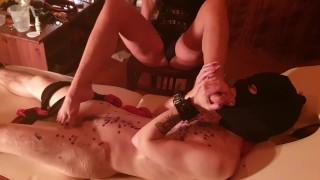 Trans boy slave loves to worship Mistress' feet