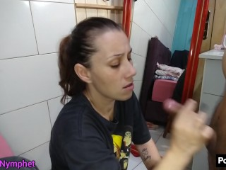 Curious Nymphet thank you so much for 3M views latina big ass blowjob Black cock cumshot in mouth