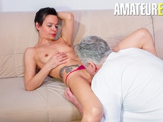 HausfrauFicken - Skinny German Housewife Gets Fucked Hard In Her Mature Pussy - AMATEUREURO