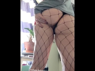Ass in fishnets
