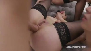LEGAL PORNO little sheep MARY JANE fucked hard anally by john price while playing with other bitches