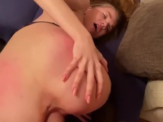 girl wanted to try a big cock to open up her tight pussy (Full Video)