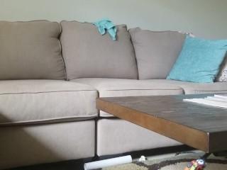 Living room couch masturbation
