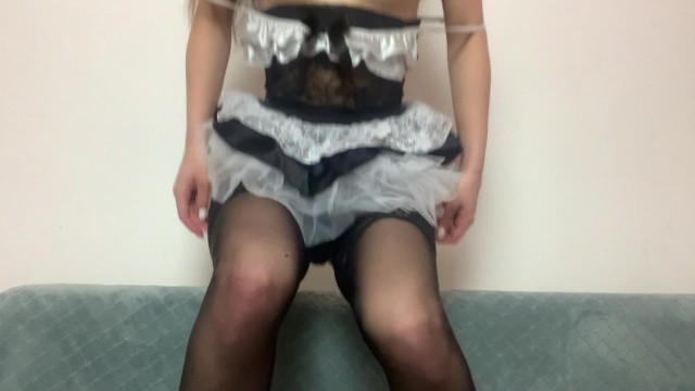 Eva in Erotic Maid Costume Masturbates on Cam 4k 18+ 3