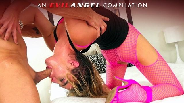EvilAngel - Sloppy Deepthroats, Gag Reflex & Facials Compilation