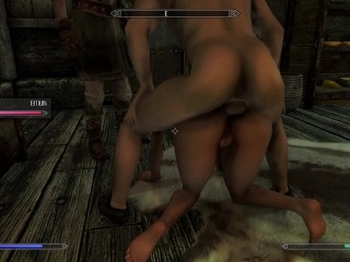 Farmers wife meets her needs 3d animated skyrim...