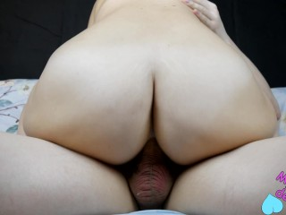 In The Ass Butt Plug, Pussy Became Narrow Flowing, Big Cock Deep Penetration Anal Creampie