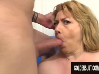 Golden Slut – Mature Lady Gives Her Lover Some Nice Head Compilation